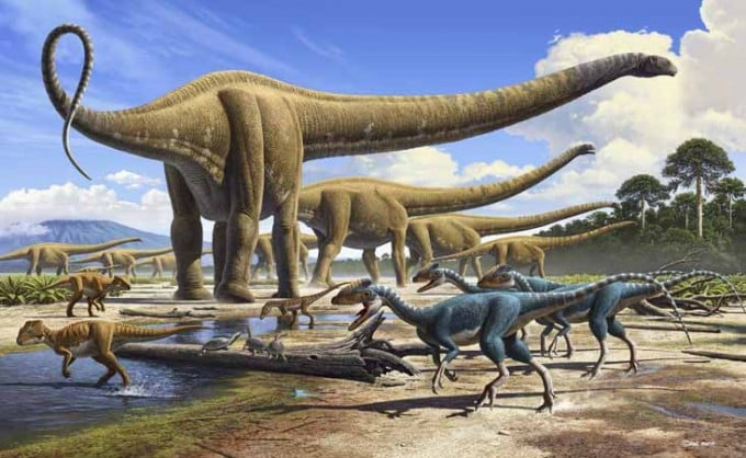 Dinosaurios Lebensraum